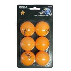 40MM 1 STAR 6 ORANGE TABLE TENNIS BALLS