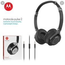 MOTOROLA PULSE 2 ON EAR WIRED HEADPHONES BLACK