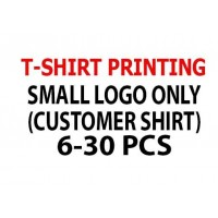 Print Small Logo Only 6-30 pcs